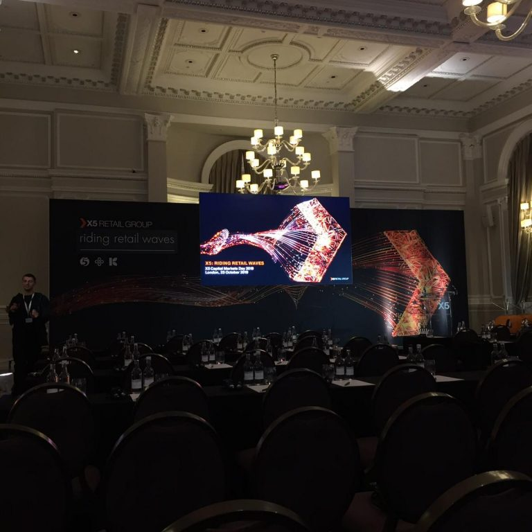 LED Screen And Wall Fort Conference