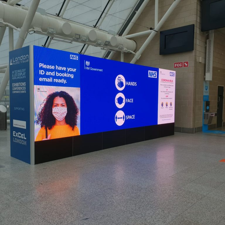 LED Wall For Excel London Covid Vaccine Center